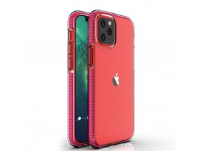 Spring Case TPU pouzdro pro Apple iPhone 12 / 12 PRO clear / pink