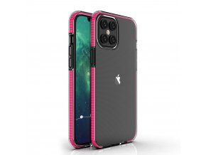 Spring Case TPU pouzdro pro Apple iPhone 12 PRO MAX clear / pink