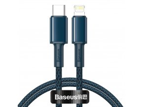 Baseus CATLGD-03 kabel USB-C PD / Apple Lightning 20W / 1m / modrý
