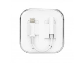 OEM adaptér Apple Lightning / 3,5mm jack bílý
