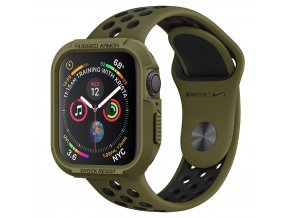 Spigen Rugged Armor Hybrid pouzdro / kryt k Apple Watch 4/5/6/SE - 44mm zelený