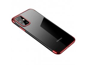 Color Case GEL Electroplating pro Samsung Galaxy A71 clear / red