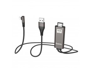 HOCO UA14 adaptér HDMI + USB / Apple Lightning / 2m