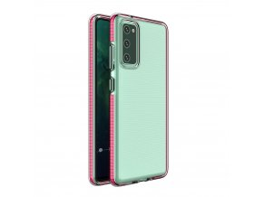 Spring Case TPU pouzdro pro Samsung Galaxy S20 FE clear / pink
