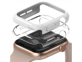 Ringke Slim Watch Case (2ks) pouzdro / kryt k Apple Watch 4/5/6/SE 44mm clear + bílá