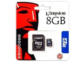 Kingston Micro SDHC 8GB + SD adaptér (blister)