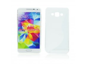 S Case pouzdro Samsung A700 Galaxy A7 transparent white