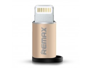 Remax adaptér Micro USB - iPhone Lightning zlatý