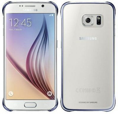 SAMSUNG EF-QG925BBE Clear Cover pouzdro G925 Galaxy S6 Edge clear/blue