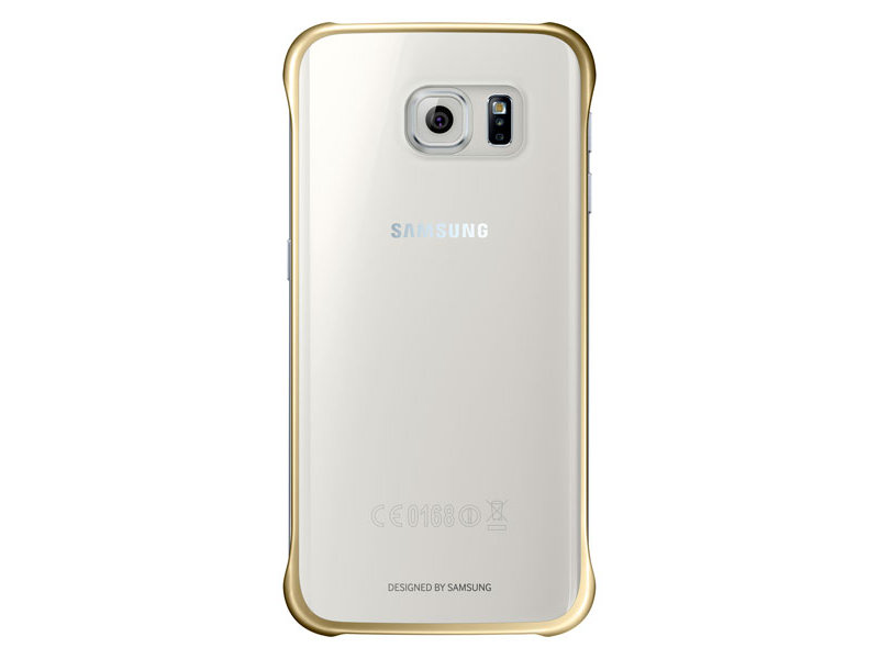 SAMSUNG EF-QG925BFE Clear Cover pouzdro G925 Galaxy S6 Edge clear/gold
