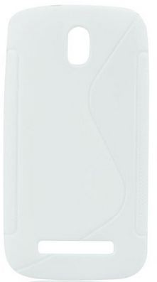 S Case pouzdro HTC Desire 500 transparent white