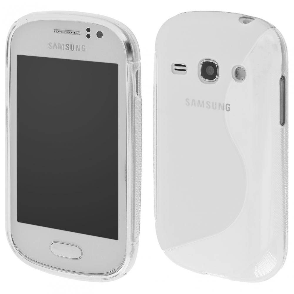 S Case pouzdro Samsung S6810 Galaxy Fame transparent white