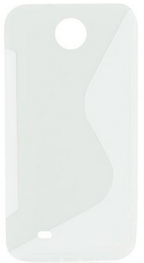 S Case pouzdro HTC Desire 300 transparent white