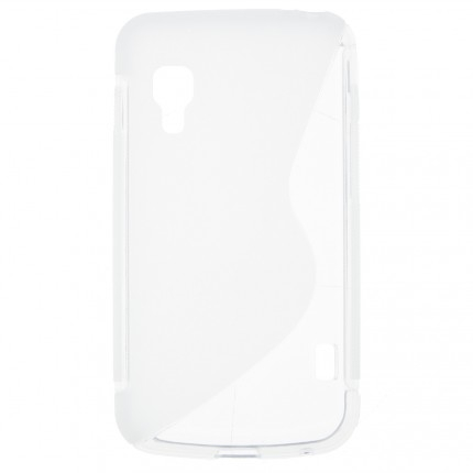 S Case pouzdro LG E455 Optimus L5 II Dual transparent white