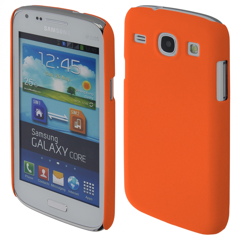 Coby Exclusive kryt Samsung i8260 Galaxy Core orange