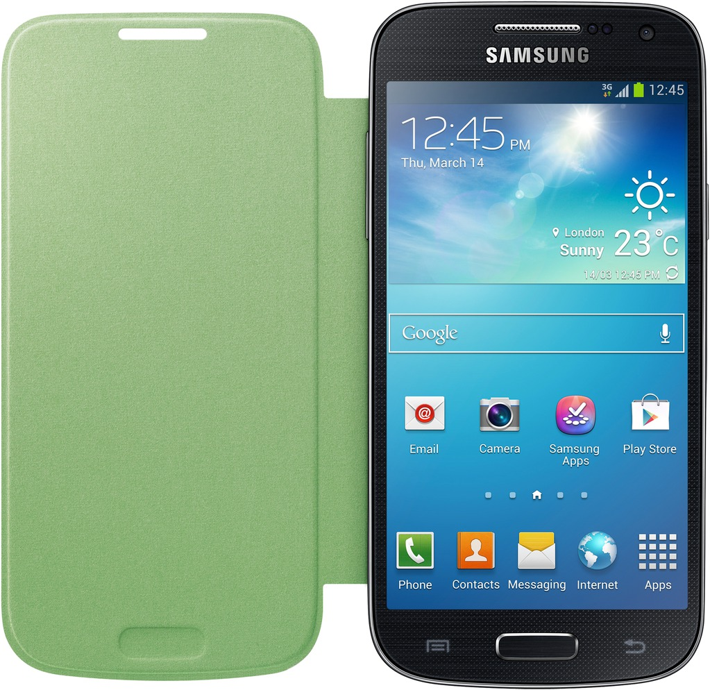 SAMSUNG EF-FI919BGE pouzdro book i9190, i9195 Galaxy S4 Mini green