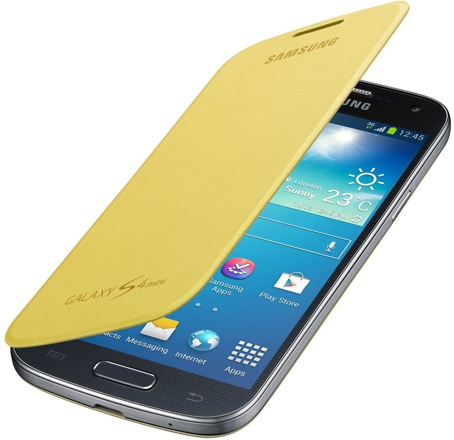 SAMSUNG EF-FI919BYE pouzdro book i9190, i9195 Galaxy S4 Mini yellow