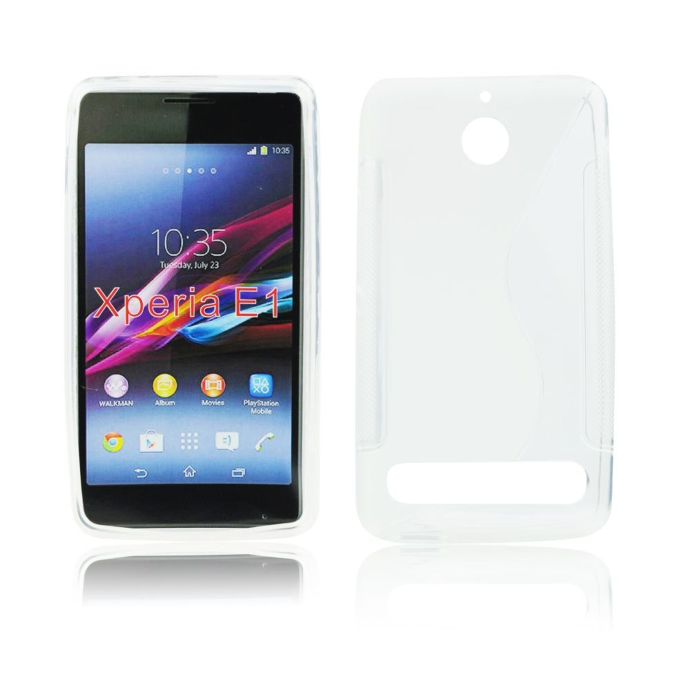 S Case pouzdro Sony Xperia E1, D2005 transparent white