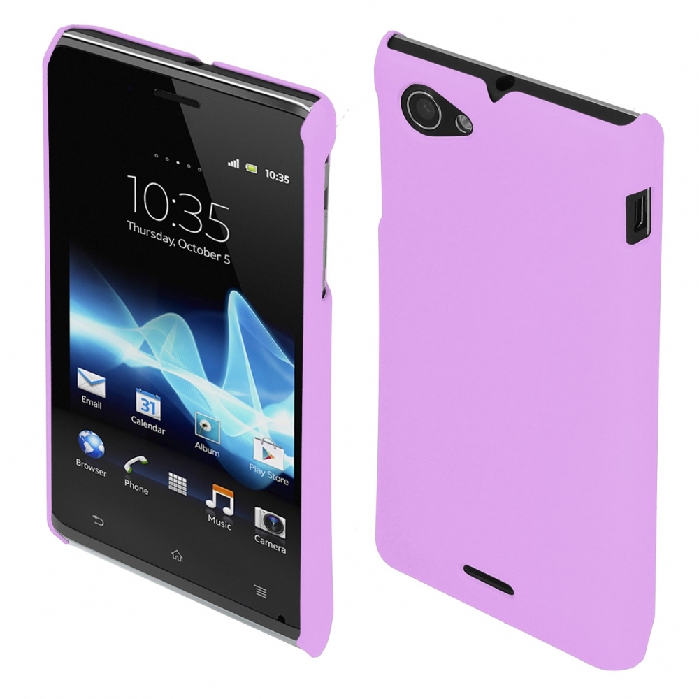 Coby Exclusive kryt Sony ST26i Xperia J, purple