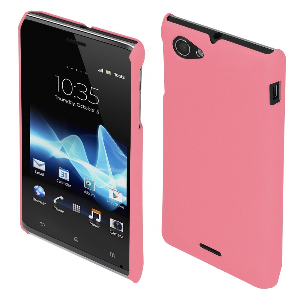 Coby Exclusive kryt Sony ST26i Xperia J, pink