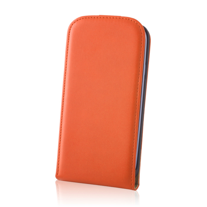SLIGO DeLuxe pouzdro Samsung i9500, i9505 Galaxy S4 orange