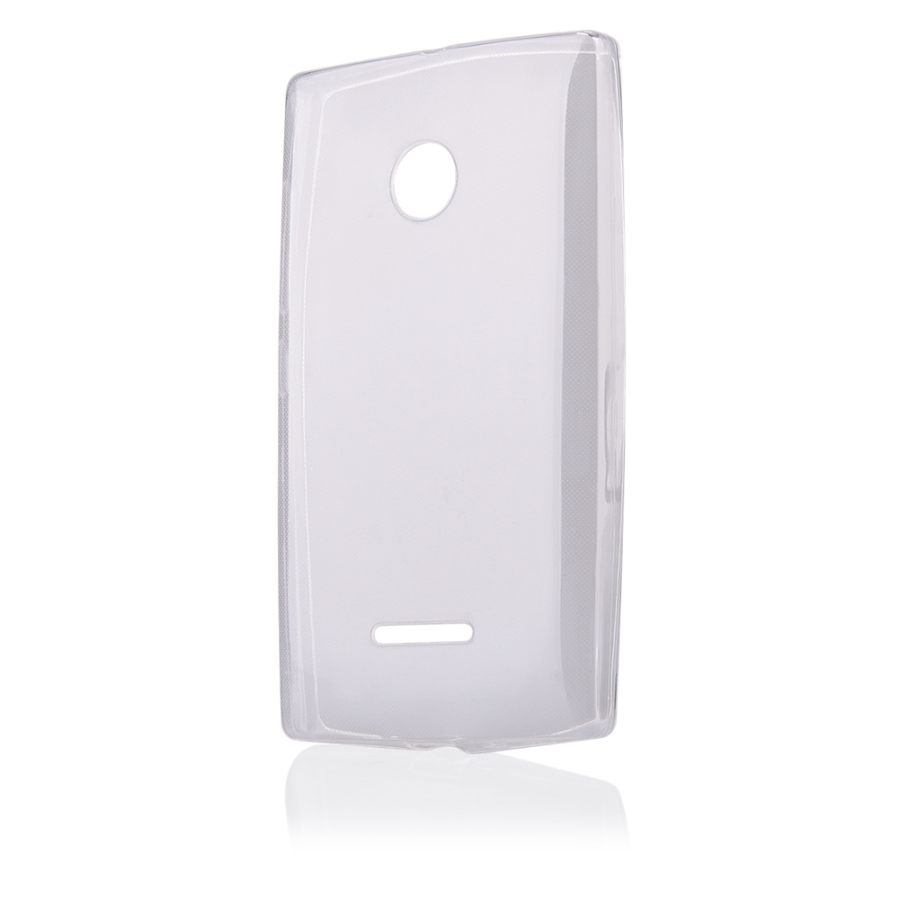 Pouzdro FITTY Ultra Tenké 0,3mm Microsoft Lumia 435 transparentní