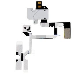 Flex kabel + AV konektor pro iPhone 4 white - OEM