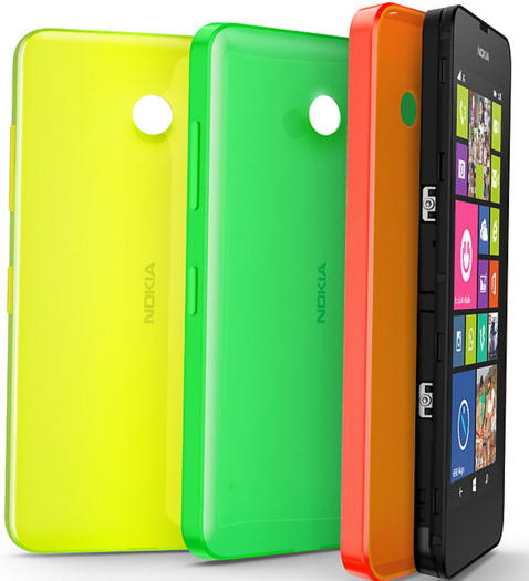 Nokia CC-3079 Shell Cover Lumia 630 / 635 yellow / žluté