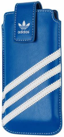 Adidas pouzdro Medium Sleeve iPhone 5/5S blue/white (B00047)
