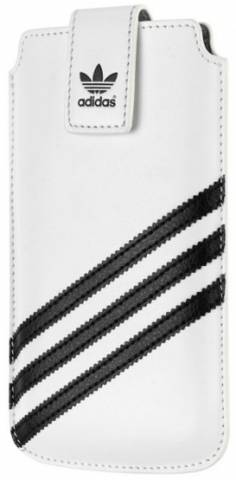 Adidas pouzdro Medium Sleeve iPhone 5/5S white/black (B00104)