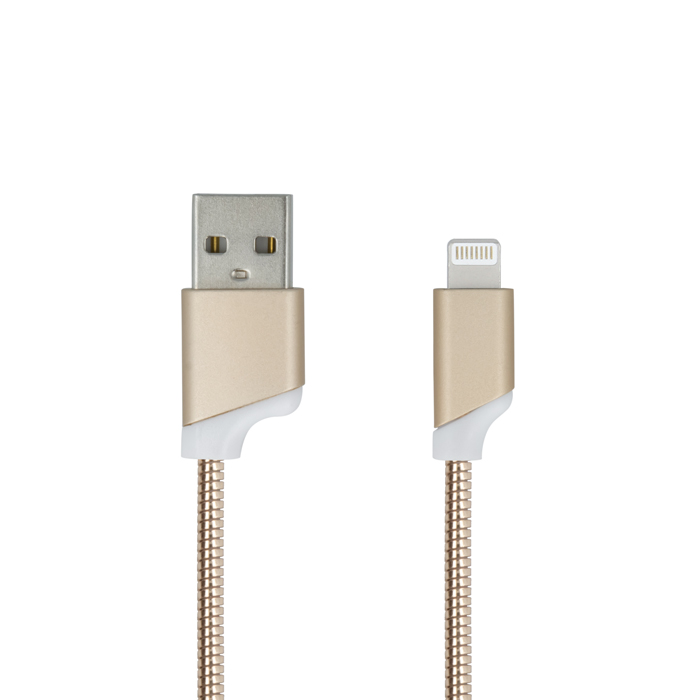 Datový kabel lightning pro iPhone 5/5C/5S/6/6S/7 gold