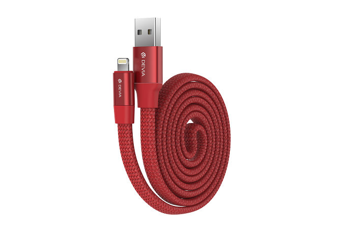 Devia kabel Ring Y-1 samosvinovací kabel iPhone 5/6/7/8 Red