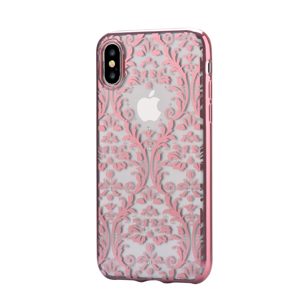 Devia Baroque pouzdro iPhone X, rose gold