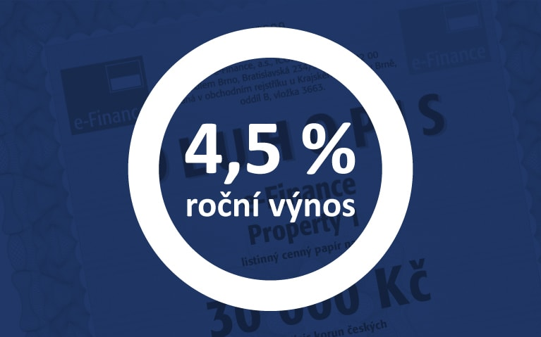 Tříleté dluhopisy 4,5% p.a.