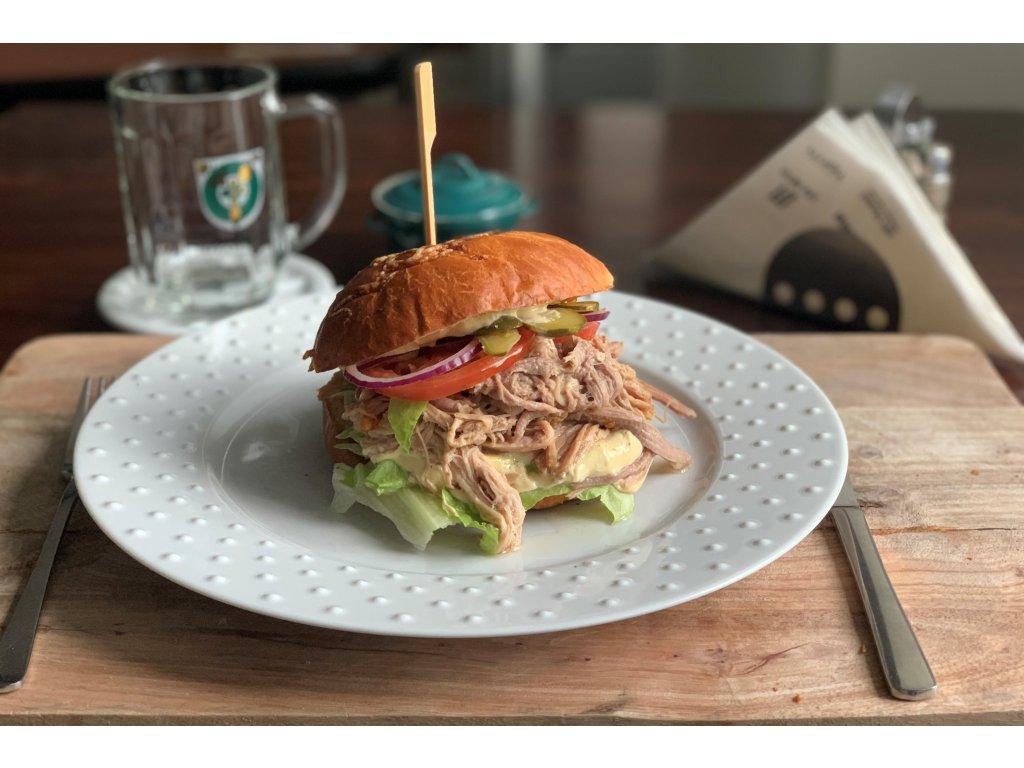 Vepřový burger s trhaným masem efishop