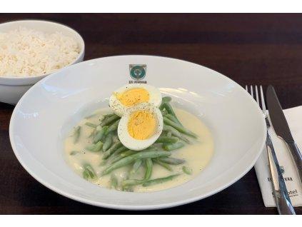 Fazolky na smetaně s vejcem 2ku3