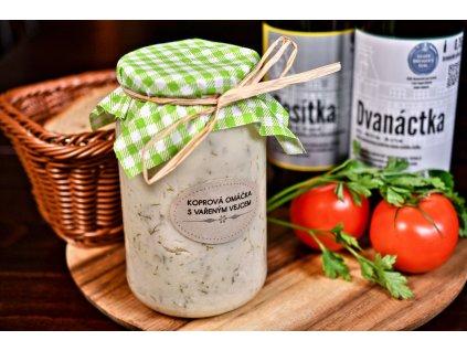 Koprová omáčka s vejcem, baleno po 2 porcích