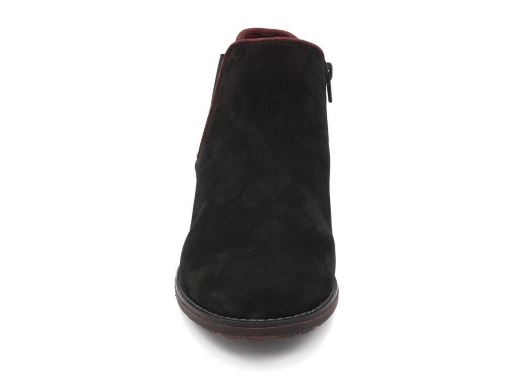 d32d0336ad8 Dámská kotníková obuv s červeným lemem Remonte - Frim