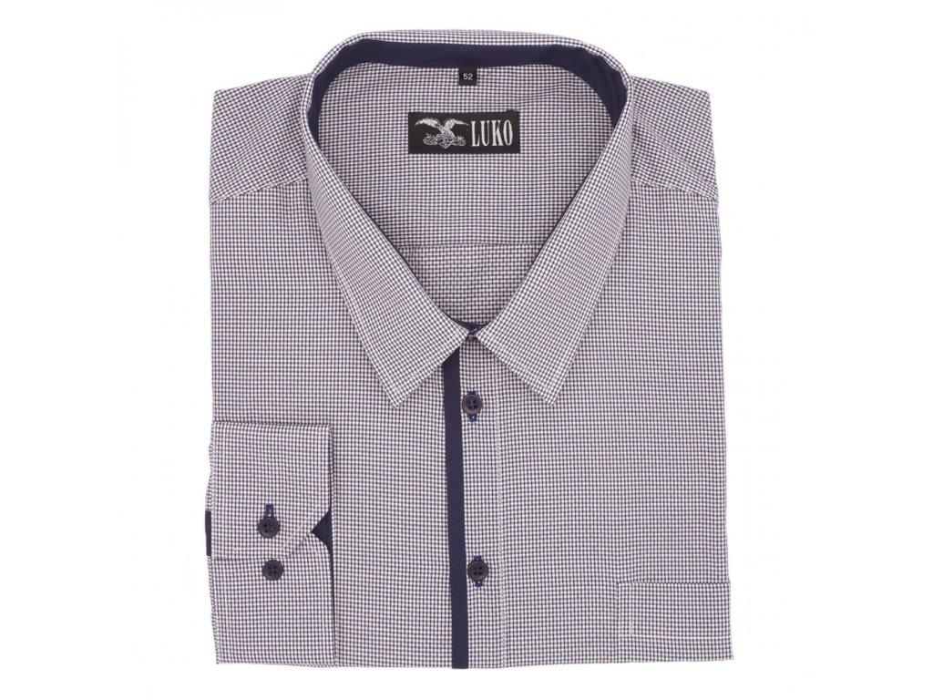 1c512223376 Pánská nadměrná košile s modrou legou D - Frim