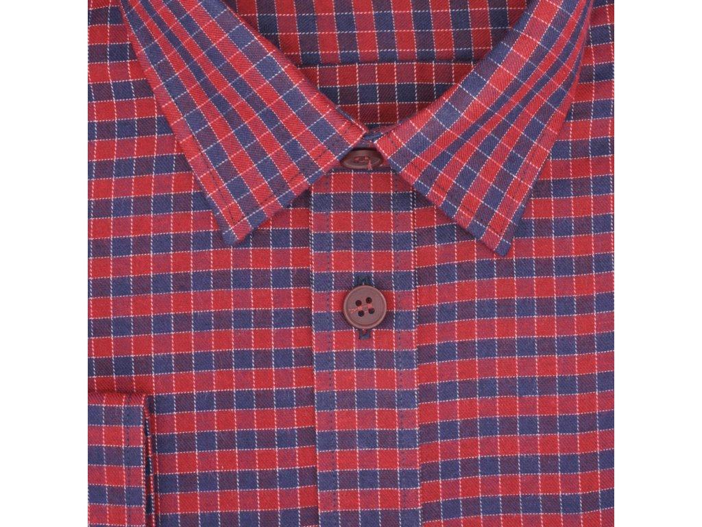 d1e2d5cbf6ab Pánská nadměrná košile červená s modrou kostkou D - Frim