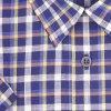 Pánská košile barevná kostka modrá K2