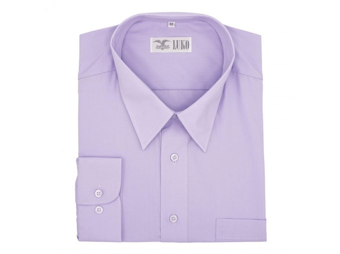 Pánská nadměrná košile světle fialová D2