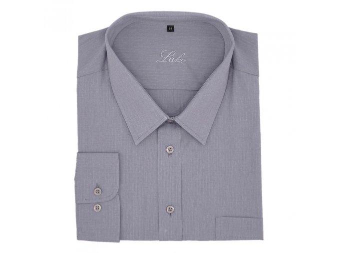 Košile světle šedá lux tečka 1D