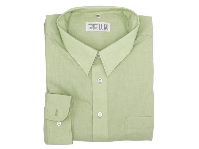 Košile světle zelená hladká 1D