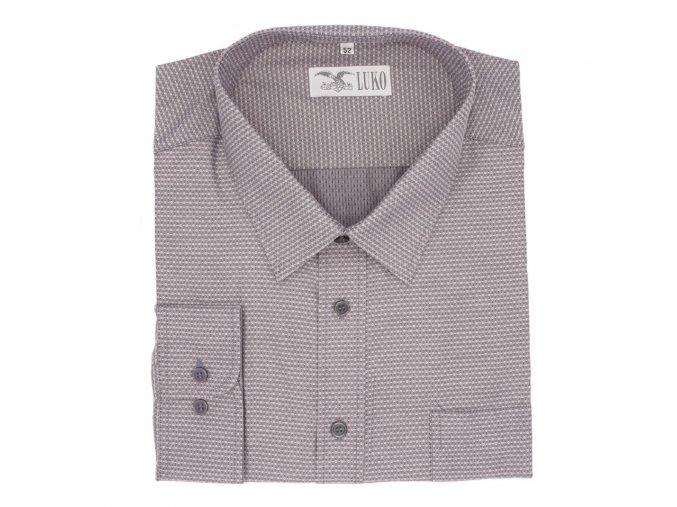 Košile šedá lux tečka 1D