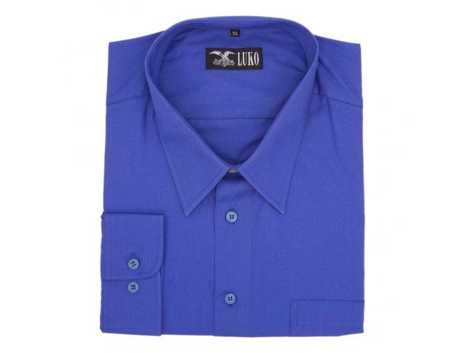 Košile tmavě modrá hladká 1D