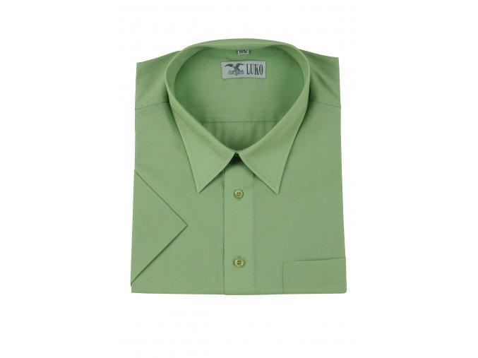 pánská košile kr. světle zelená