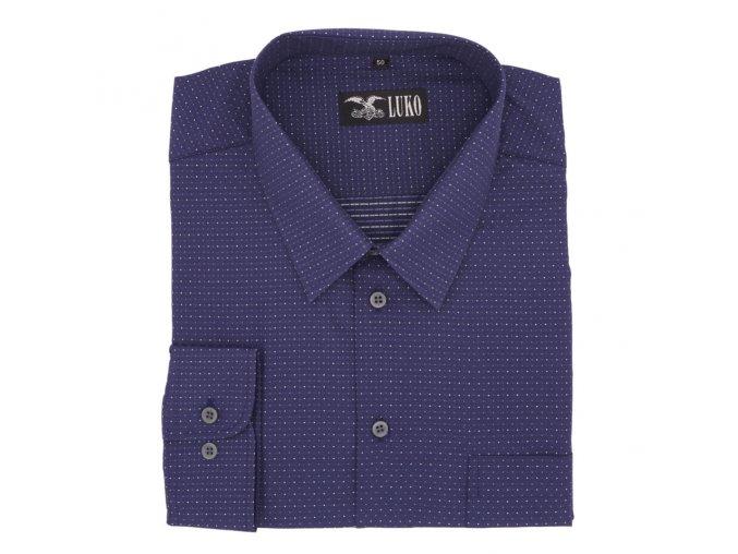 Košile tmavě modrá s bílou tečkou lux 1D