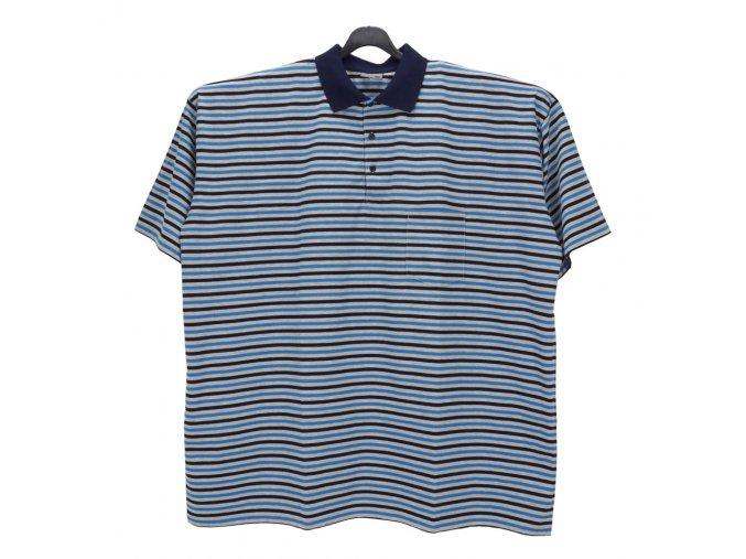 Pánské nadměrné tričko melír modrá navy KL