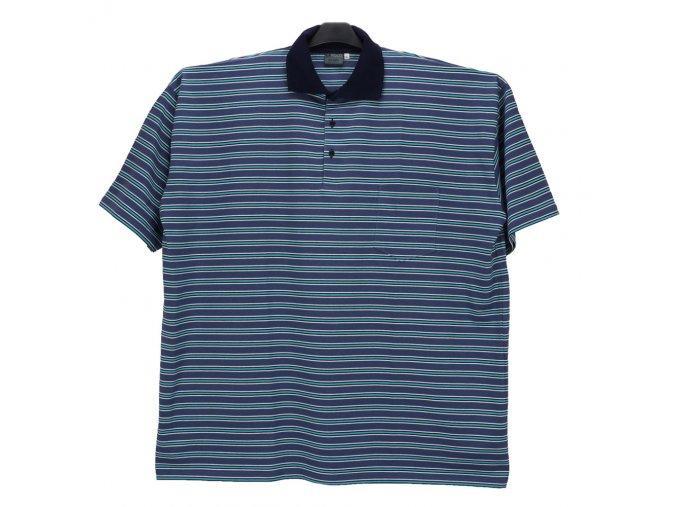 Pánské nadměrné tričko modrá modrá bílá KL